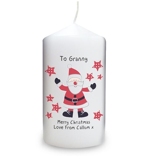 Personalised Spotty Santa Candle - Product number 1446894