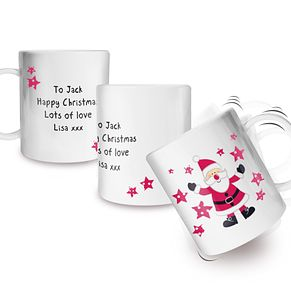 Personalised Spotty Santa Plastic Cup - Product number 1446959