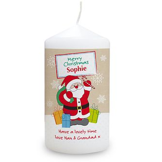 Personalised Santa Merry Christmas Candle - Product number 1447017