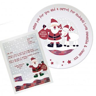 Personalised Rooftop Santa Mince Pie Plate - Product number 1447246