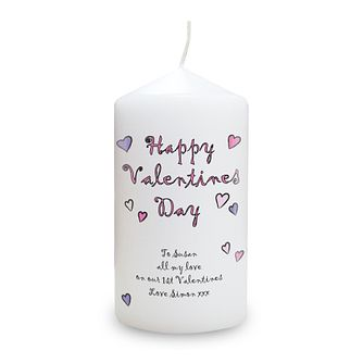 Personalised Happy Valentines Day Candle - Product number 1448234