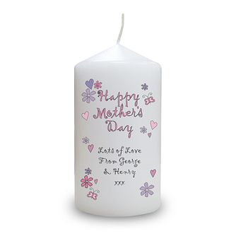 Personalised Flowers And Butterflies Mother's Day Candle - Product number 1448242