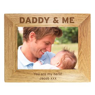 Personalised Wooden Daddy & Me 9x9 Photo Frame - Product number 1450166