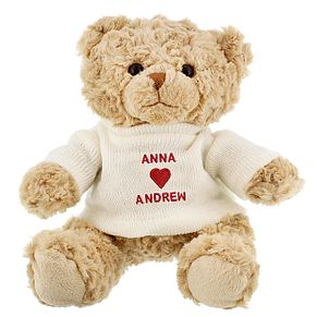 Personalised Love Heart Message Bear - Product number 1450174