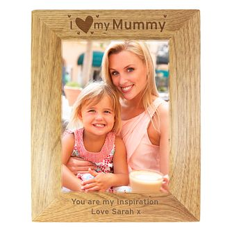 Personalised I Love My Mummy Wooden 5x7 Frame - Product number 1450255