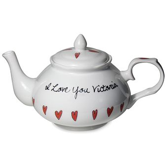 Personalised Hearts Tea Pot - Product number 1450697