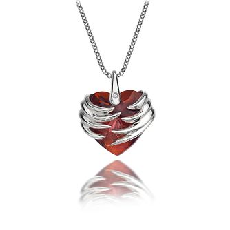 Hot Diamonds Sterling Silver Diamond Angel Heart Pendant - Product number 1456512