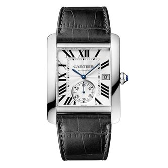 Cartier Tank Mc Men's Black Leather Strap Watch - Product number 1459570