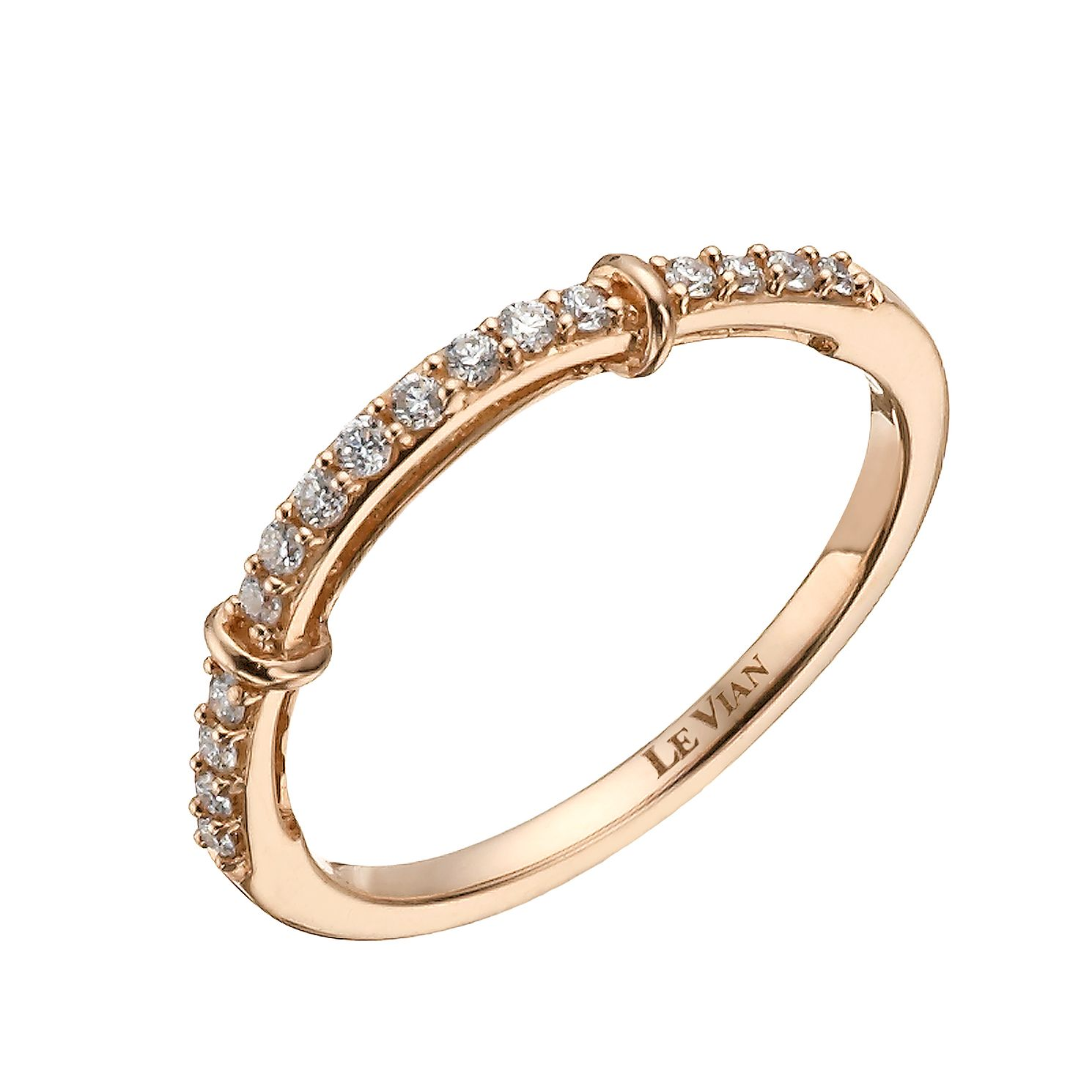 Le Vian 14ct Strawberry Gold 0.15ct Diamond Wedding Band - Product number 1460587