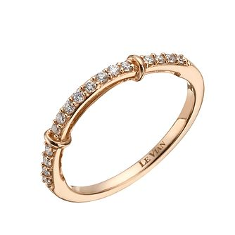 Le Vian 14ct Strawberry Gold 15 Point Diamond Wedding Band - Product number 1460587