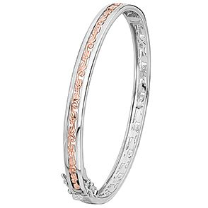 Clogau Silver & 9ct  Rose Gold Tree Of Life Bangle - Product number 1468480