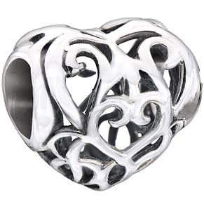Chamilia sterling silver filigree heart bead - Product number 1479571