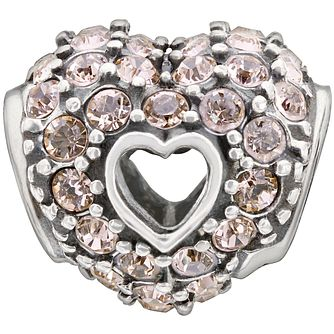 Chamilia Sterling Silver Pave Crystal Heart Charm - Product number 1485342
