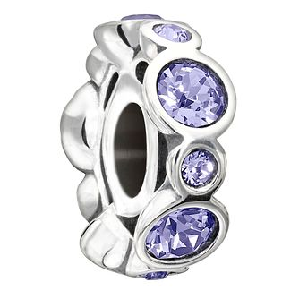 Chamilia Sterling Silver Crystal June Birthstone Charm - Product number 1485369