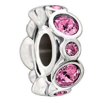 Chamilia Sterling Silver Crystal October Birthstone Charm - Product number 1485652