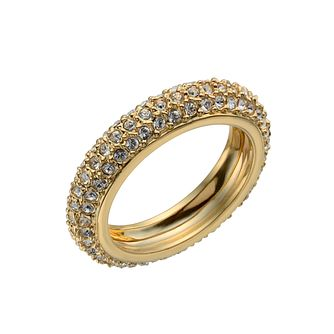 Gold-Plated Crystal Band Ring Size O - Product number 1520121