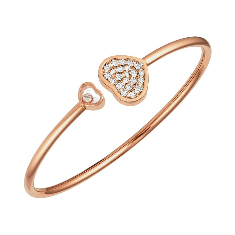 Chopard Happy Hearts 18ct Rose Gold 0.45ct Diamond Bangle - Product number 1527304