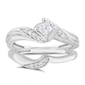 Perfect Fit 9ct White Gold 0.33ct Diamond Bridal Set - Product number 1537490