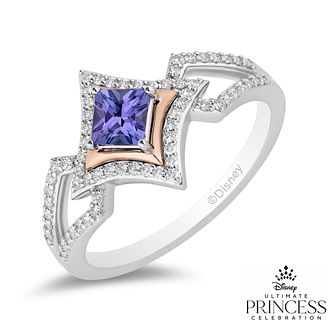 Enchanted Disney Fine Jewelry 0.20ct Diamond Tanzanite Ring - Product number 1541978