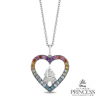 Enchanted Disney Fine Jewelry Multi-Stone Heart Pendant - Product number 1542443