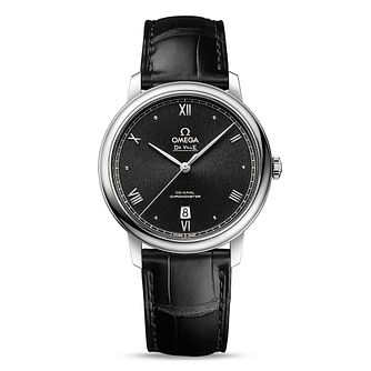 Omega De Ville Prestige Men's Black Leather Strap Watch - Product number 1544322