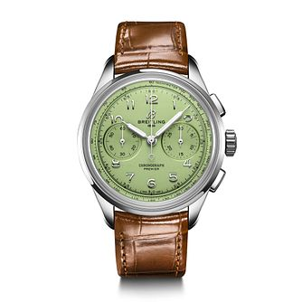 Breitling Premier B09 Chronograph Brown Leather Strap Watch - Product number 1548476