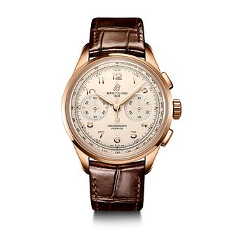 Breitling Premier B09 Chronograph Brown Leather Strap Watch - Product number 1548921