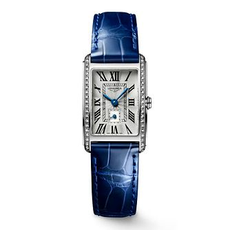 Longines DolceVita Ladies' Blue Leather Strap Watch - Product number 1552368