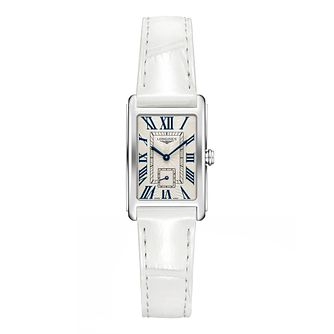 Longines DolceVita Ladies' White Leather Strap Watch - Product number 1552376