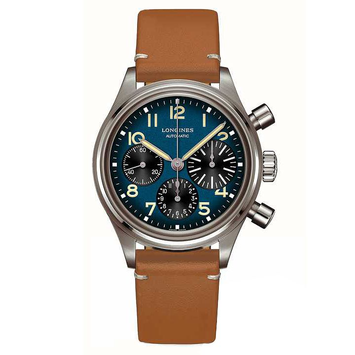 Longines Heritage Avigation BigEye Tan Leather Strap Watch - Product number 1552392