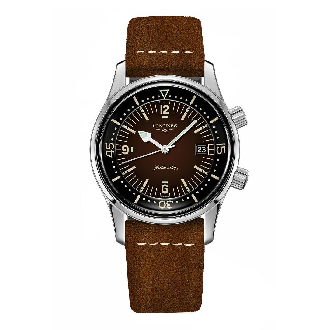 Longines Heritage Legend Diver Brown Leather Strap Watch - Product number 1552546