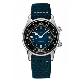 Longines Heritage Legend Diver Blue Leather Strap Watch - Product number 1552554