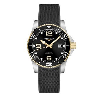 Longines HydroConquest Men's Black Rubber Strap Watch - Product number 1552597