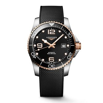 Longines HydroConquest Men's Black Rubber Strap Watch - Product number 1552619
