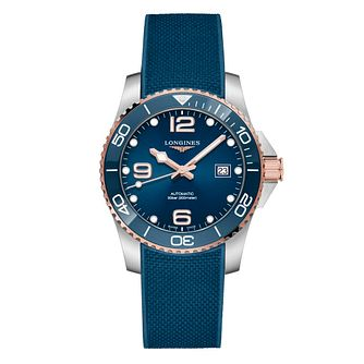 Longines HydroConquest Men's Blue Rubber Strap Watch - Product number 1552686