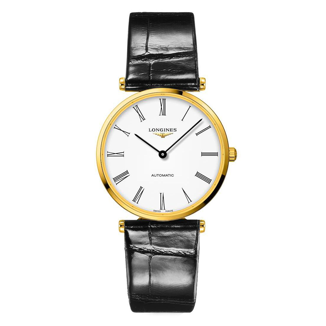 Longines La Grande Classique Black Leather Strap Watch - Product number 1552732