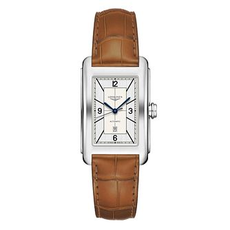 Longines DolceVita Men's Brown Leather Strap Watch - Product number 1552767