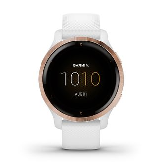 Garmin Venu 2S Ladies' White Silicone Strap Smartwatch - Product number 1553569