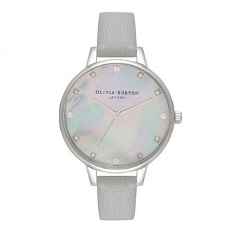 Olivia Burton Timeless Classic Grey Leather Strap Watch - Product number 1565427
