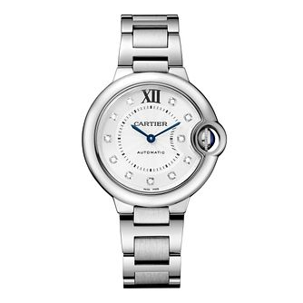 Cartier Ballon Bleu 33mm ladies' steel bracelet watch - Product number 1567837