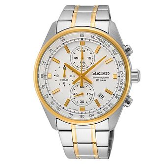Seiko Chronograph Men's Two Tone Bracelet Watch - Product number 1585495