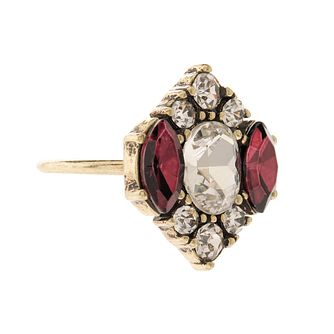 Martine Wester Burgundy & Clear Crystal Ring - Product number 1592726