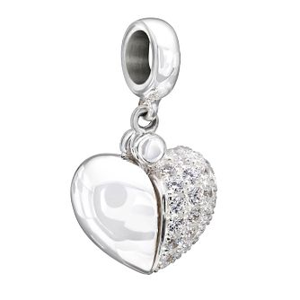 Chamilia Secret Message Heart Charm with Swarovski Zirconia - Product number 1599771