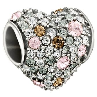 Chamilia Silver Light Pink Swarovski Crystal Heart Charm - Product number 1599992