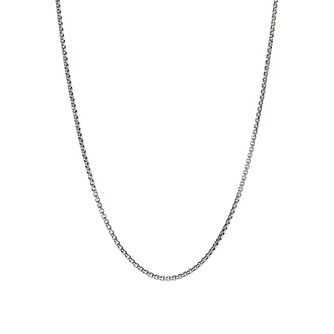 "Chamilia Oxidised Silver Box Chain with Snap Closure 18"" - Product number 1600389"