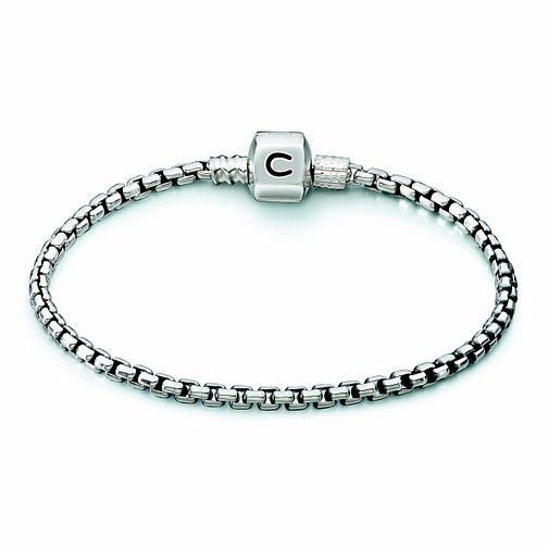 Chamilia Sterling Silver Oxidised Box 7.5in Bracelet - Product number 1600443