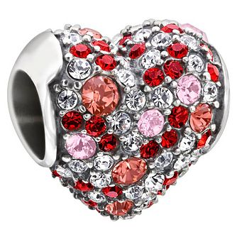 Chamilia Sterling Silver Pink Swarovski Crystal Heart Charm - Product number 1600478