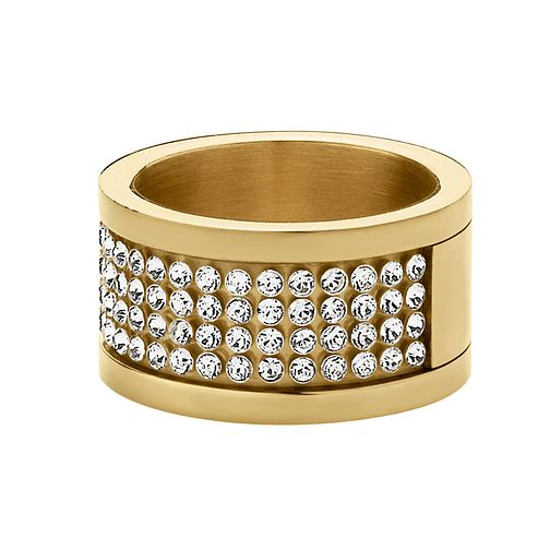 Dyrberg Kern Gold-Plated Crystal Ring S-M - Product number 1604325