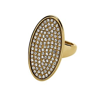 Dyrberg Kern Oval Crystal Ring S-M - Product number 1604643