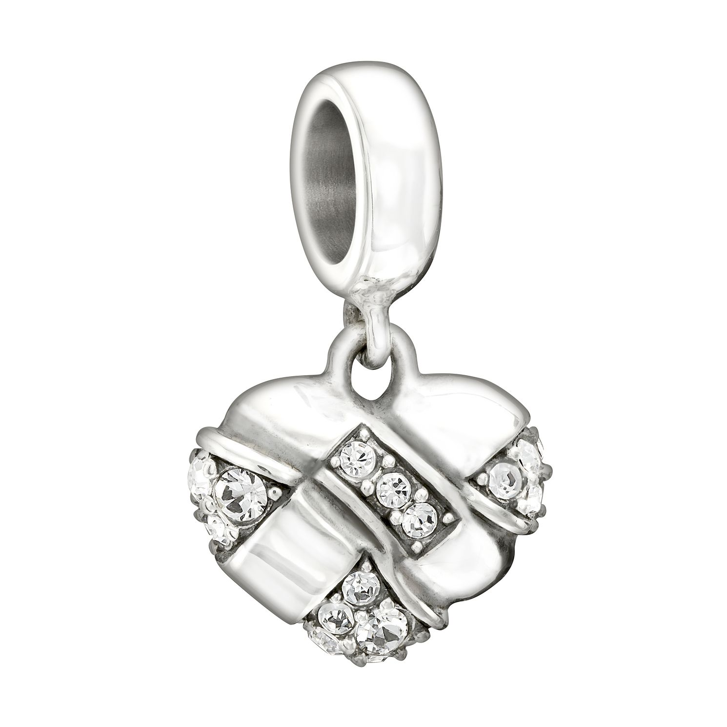 Chamilia Silver Swarovski Crystal Woven Heart Charm - Product number 1605054